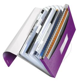 Projektmappe WOW mit Gummizug A4 mit 6 Fächern violett metallic PP Leitz 4589-00-62 Produktbild