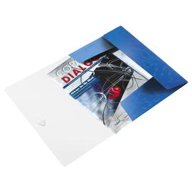 Eckspanner WOW mit 3 Klappen A4 für 150Blatt blau metallic PP Leitz 4599-00-36 Produktbild