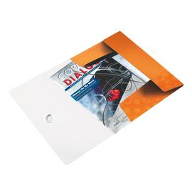 Eckspanner WOW mit 3 Klappen A4 für 150Blatt orange metallic PP Leitz 4599-00-44 Produktbild