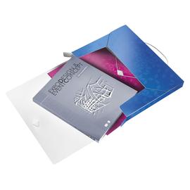 Ablagebox WOW für A4 330x250x38mm für 250Blatt blau metallic PP Leitz 4629-00-36 Produktbild