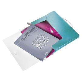 Ablagebox WOW für A4 330x250x38mm für 250Blatt eisblau metallic PP Leitz 4629-00-51 Produktbild