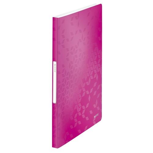 Sichtbuch WOW mit 40 Hüllen A4 pink metallic PP Leitz 4632-00-23 Produktbild Front View L