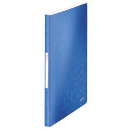 Sichtbuch WOW mit 40 Hüllen A4 blau metallic PP Leitz 4632-00-36 Produktbild