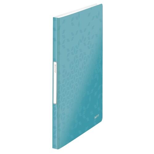 Sichtbuch WOW mit 40 Hüllen A4 eisblau metallic PP Leitz 4632-00-51 Produktbild Front View L
