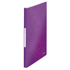 Sichtbuch WOW mit 40 Hüllen A4 violett metallic PP Leitz 4632-00-62 Produktbild