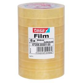 Klebefilm Standard 19mm x 66m transparent Tesa 57208-00001-00 (PACK=8 ROLLEN) Produktbild