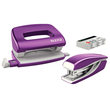 Schreibtischset Mini Locher und Heftgerät NeXXt WOW violett metallic Leitz 5561-20-62 Produktbild