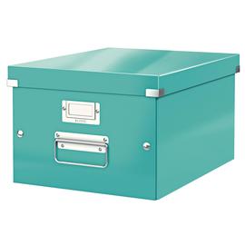 Archivbox WOW Click & Store 281x200x370mm eisblau metallic Leitz 6044-00-51 Produktbild