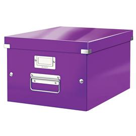 Archivbox WOW Click & Store 281x200x370mm violett metallic Leitz 6044-00-62 Produktbild