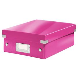 Organisationsbox WOW Click & Store 282x220x100mm klein pink metallic Leitz 6057-00-23 Produktbild