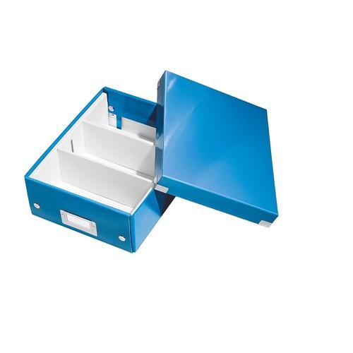 Organisationsbox WOW Click & Store 282x220x100mm klein blau metallic Leitz 6057-00-36 Produktbild Additional View 1 L