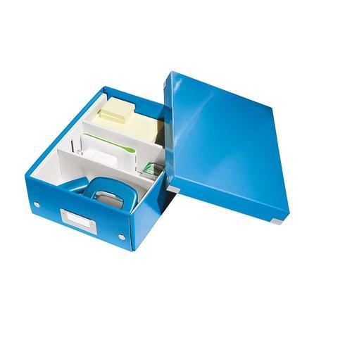Organisationsbox WOW Click & Store 282x220x100mm klein blau metallic Leitz 6057-00-36 Produktbild Additional View 2 L
