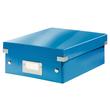 Organisationsbox WOW Click & Store 282x220x100mm klein blau metallic Leitz 6057-00-36 Produktbild
