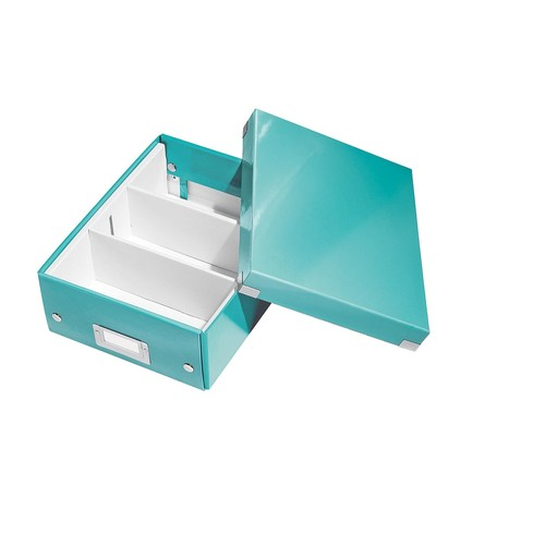 Organisationsbox WOW Click & Store 282x220x100mm klein eisblau Leitz 6057-00-51 Produktbild Additional View 1 L