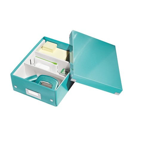 Organisationsbox WOW Click & Store 282x220x100mm klein eisblau Leitz 6057-00-51 Produktbild Additional View 2 L