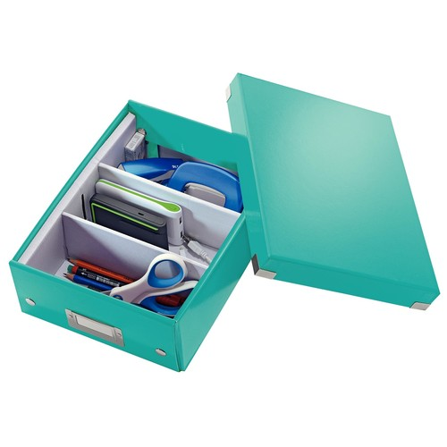 Organisationsbox WOW Click & Store 282x220x100mm klein eisblau Leitz 6057-00-51 Produktbild Additional View 3 L