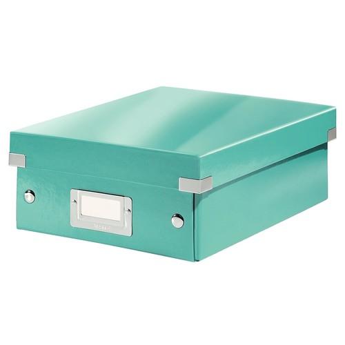 Organisationsbox WOW Click & Store 220x100x285mm eisblau metallic Leitz 6057-00-51 Produktbild