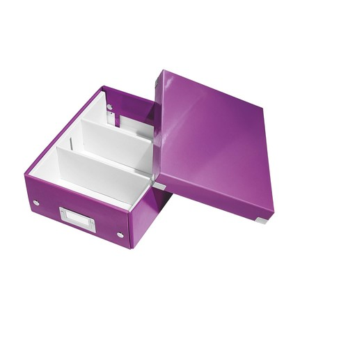 Organisationsbox WOW Click & Store 282x220x100mm klein violett Leitz 6057-00-62 Produktbild Additional View 1 L
