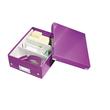 Organisationsbox WOW Click & Store 282x220x100mm klein violett Leitz 6057-00-62 Produktbild Additional View 2 S