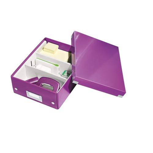 Organisationsbox WOW Click & Store 282x220x100mm klein violett Leitz 6057-00-62 Produktbild Additional View 2 L