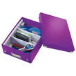 Organisationsbox WOW Click & Store 282x220x100mm klein violett Leitz 6057-00-62 Produktbild Additional View 3 S