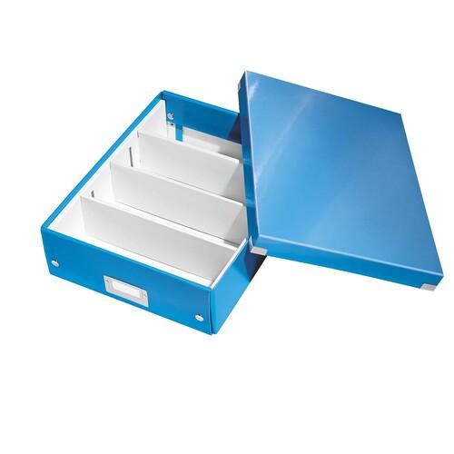 Organisationsbox WOW Click & Store 370x281x100mm blau metallic Leitz mittel 6058-00-36 Produktbild Additional View 1 L