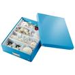 Organisationsbox WOW Click & Store 370x281x100mm blau metallic Leitz mittel 6058-00-36 Produktbild Additional View 3 S