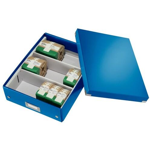 Organisationsbox WOW Click & Store 370x281x100mm blau metallic Leitz mittel 6058-00-36 Produktbild Additional View 4 L