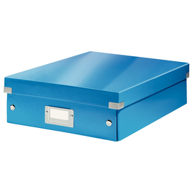 Organisationsbox WOW Click & Store 370x281x100mm blau metallic Leitz mittel 6058-00-36 Produktbild