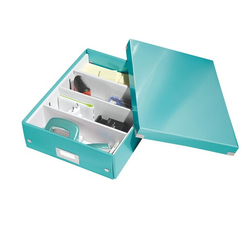 Organisationsbox WOW Click & Store 370x281x100mm mittel eisblau Leitz 6058-00-51 Produktbild Additional View 2 L