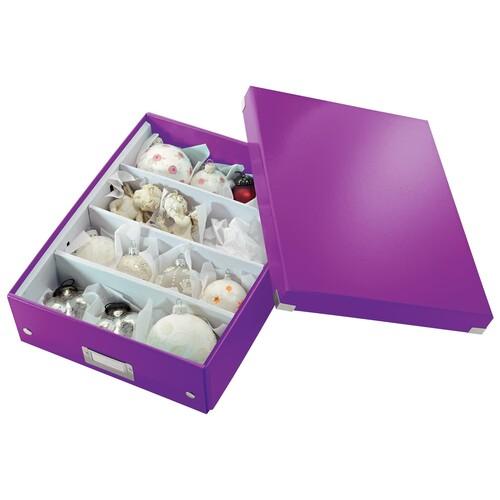 Organisationsbox WOW Click & Store 370x281x100mm mittel violett Leitz 6058-00-62 Produktbild Additional View 3 L
