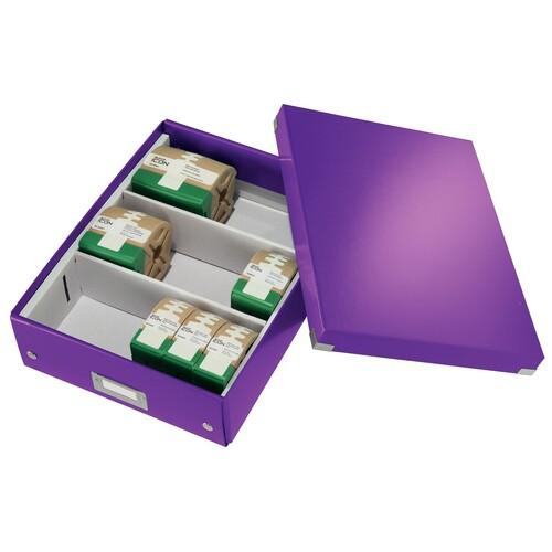 Organisationsbox WOW Click & Store 370x281x100mm mittel violett Leitz 6058-00-62 Produktbild Additional View 4 L