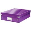 Organisationsbox WOW Click & Store 370x281x100mm mittel violett Leitz 6058-00-62 Produktbild