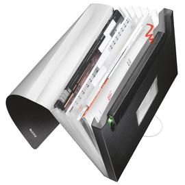 Projektmappe Style mit Gummizug A4 mit 6 Fächern satin schwarz PP Leitz 3957-00-94 Produktbild