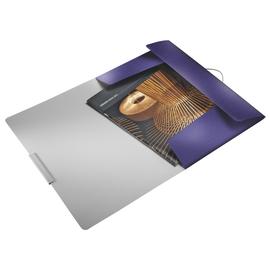 Eckspanner Style mit 3 Klappen A4 für 150Blatt titan blau PP Leitz 3977-00-69 Produktbild
