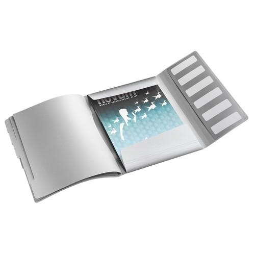 Ordnungsmappe Style mit Gummizug A4 mit 6 Fächern und 3 Klappen arktik weiß PP Leitz 3995-00-04 Produktbild Additional View 1 L