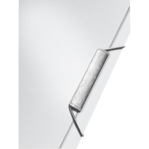 Ordnungsmappe Style mit Gummizug A4 mit 6 Fächern und 3 Klappen arktik weiß PP Leitz 3995-00-04 Produktbild Additional View 2 L