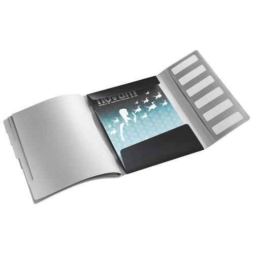Ordnungsmappe Style mit Gummizug A4 mit 6 Fächern und 3 Klappen satin schwarz PP Leitz 3995-00-94 Produktbild Additional View 1 L