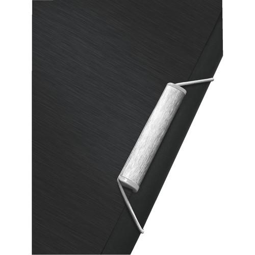 Ordnungsmappe Style mit Gummizug A4 mit 6 Fächern und 3 Klappen satin schwarz PP Leitz 3995-00-94 Produktbild Additional View 2 L