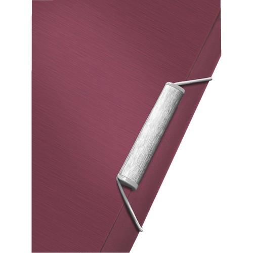 Ordnungsmappe Style mit Gummizug A4 mit 12 Fächern und 3 Klappen granat rot PP Leitz 3996-00-28 Produktbild Additional View 2 L