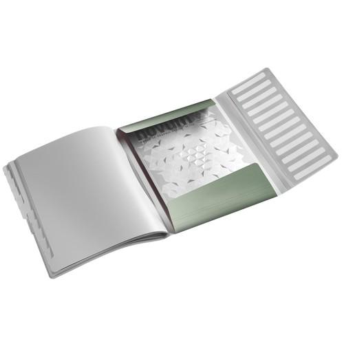 Ordnungsmappe Style mit Gummizug A4 mit 12 Fächern und 3 Klappen seladon grün PP Leitz 3996-00-53 Produktbild Additional View 1 L