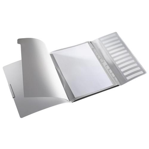 Ordnungsmappe Style mit Gummizug A4 mit 12 Fächern und 3 Klappen satin schwarz PP Leitz 3996-00-94 Produktbild