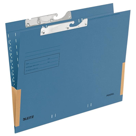 Pendeltasche mit Schlitzstanzung 320g blau Manila-Karton Leitz 2016-00-35 Produktbild