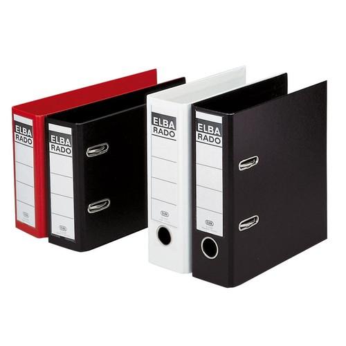 Ordner Rado Plast A5 hoch 80mm schwarz Kunststoff Elba 100022641 Produktbild Additional View 1 L