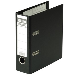 Ordner Rado Plast A5 hoch 80mm schwarz Kunststoff Elba 100022641 Produktbild