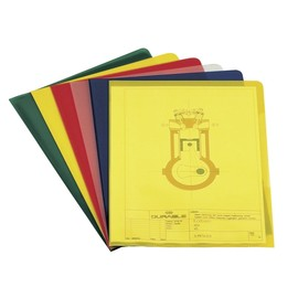 Sichthülle oben + rechts offen A4 150µ gelb PVC Hartfolie Durable 2339-04 Produktbild