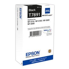 Tintenpatrone T7891XXL für Epson Workforce Pro WF 4630 DWF 65,1ml schwarz Epson T789140 Produktbild