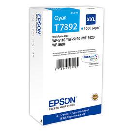 Tintenpatrone T7892XXL für Epson Workforce Pro WF 4630 DWF 34,2ml cyan Epson T789240 Produktbild