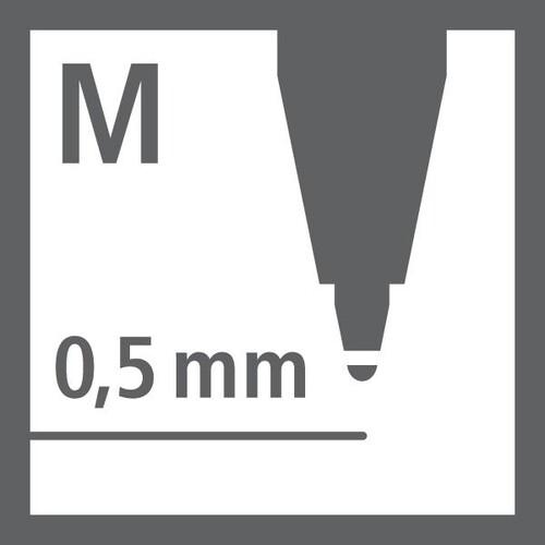 Kugelschreibermine Ballpoint Refill 0,5mm türkis + lila Stabilo 2/0518-10 Produktbild Back View L