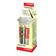 Kugelschreibermine Ballpoint Refill 0,5mm türkis + lila Stabilo 2/0518-10 Produktbild